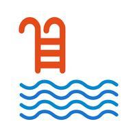 Illustrazione di vettore dell'icona della piscina