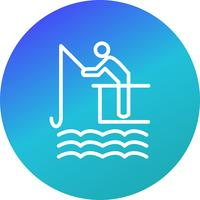 Pesca icona illustrazione vettoriale