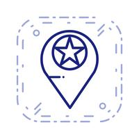 Icona di posizione con stelle vettoriale