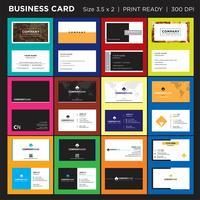 Pulire il modello di progettazione di biglietti da visita, la stampa creativa e minimale pronta vettore