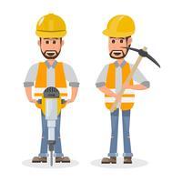 architetto, caporeparto, operaio edile di ingegneria di carattere diverso