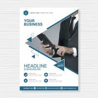 Modello di copertina business a4 per una progettazione di brochure e brochure, flyer, banner, decorazione di volantini per la stampa e presentazione illustrazione vettoriale