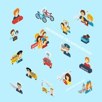 Trasporto passeggeri isometrico