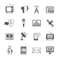 Set di icone multimediali vettore