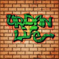 Sfondo muro graffiti vettore