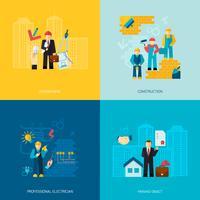 Set di professioni di costruzione