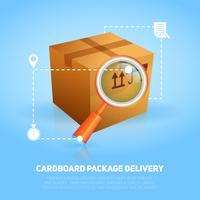 Poster del pacchetto logistico vettore