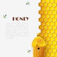 sfondo alveare di miele vettore