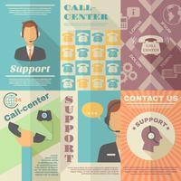 Supporta il poster del Call Center vettore