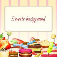 Sfondo di cibo dolci vettore
