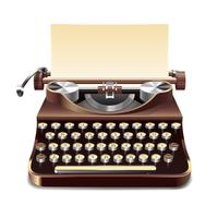 Illustrazione realistica della macchina da scrivere