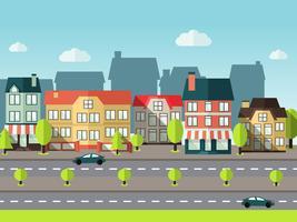 Sfondo città di paesaggio vettore