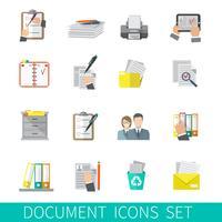 Icona del documento piatta vettore