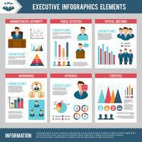 Set di infografica esecutivo vettore