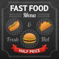 Lavagna per fast food vettore
