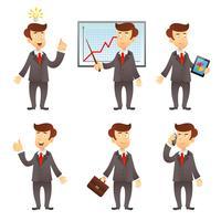 Personaggio dei cartoni animati uomo d'affari