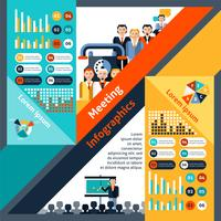 Riunione infografica set