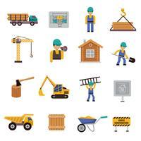 Icona della costruzione piatta vettore