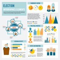 Elezione icona infografica