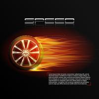 Illustrazione della ruota di masterizzazione vettore