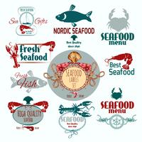 Etichetta di frutti di mare