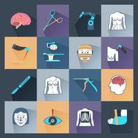 Icone di chirurgia piatte