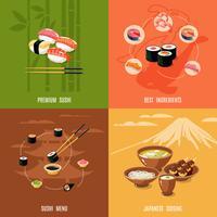 Concetto di design di cibo asiatico vettore