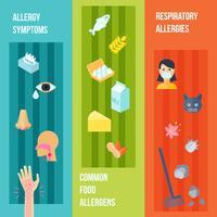 Set di banner di allergia