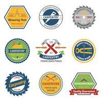 Emblemi di colore carpenteria vettore