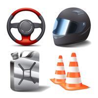 Set di corse automobilistiche vettore
