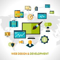 Composizione dello sviluppo Web vettore