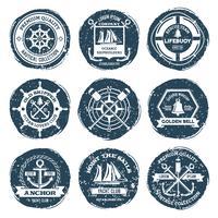 Etichette e francobolli nautici vettore