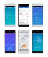 set di smartphone ui vettore