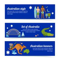 Set di banner in Australia vettore