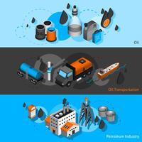 Insegne isometriche di petrolio vettore
