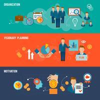 Set di banner di gestione