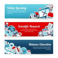 Banner di formazione online vettore