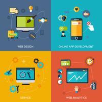 Set di sviluppo Web vettore