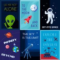 Set di poster spaziali vettore