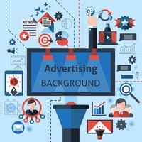 Sfondo di marketing pubblicitario vettore