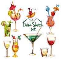 Set da cocktail di schizzo