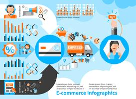 Set di infografica e-commerce vettore