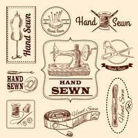 Set di emblemi per cucire vettore