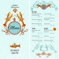 Modello di menu di pesce
