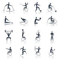 Icone di sport disabili nero