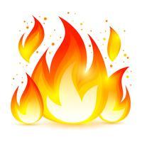 Icona decorativa di fuoco vettore