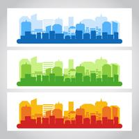 colore del banner città paesaggio vettore