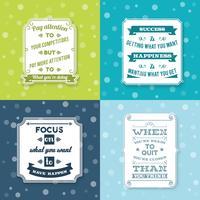Set di etichette di successo