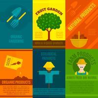 Set di manifesti ecologici vettore