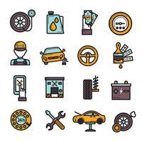 Set di icone del servizio automatico vettore